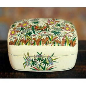 Handmade Paper Mache Jewelry Box by Novica
