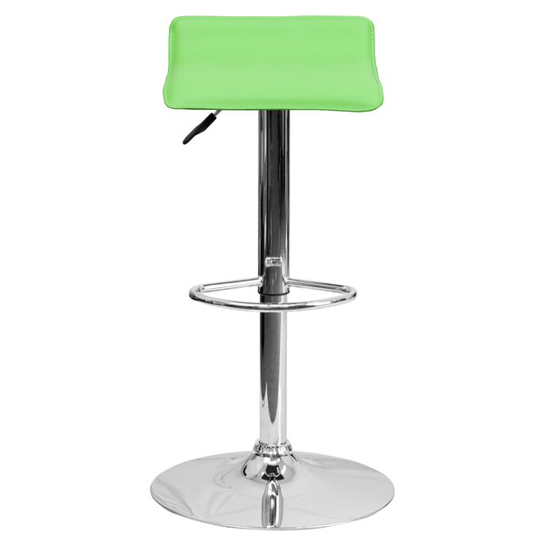 Claudine Adjustable Height Swivel Bar Stool (Set of 2) by Zipcode Design