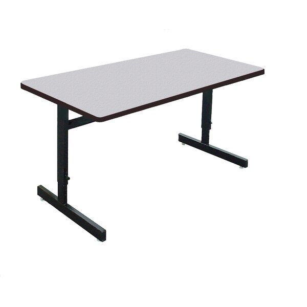 Height Adjustable Training Table With Modesty Panel By Symple Stuff.