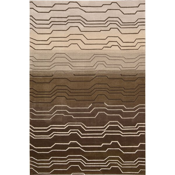 Newbury Hand-Tufted Brown Area Rug by Ivy Bronx