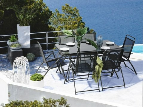 Goldfarb Outdoor 7 Piece Dining Set by Ebern Designs