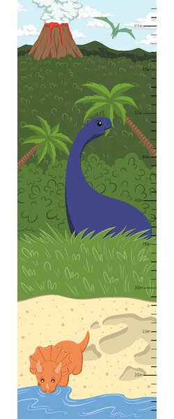 The Age of Dinosaurs Growth Chart by East Urban Home