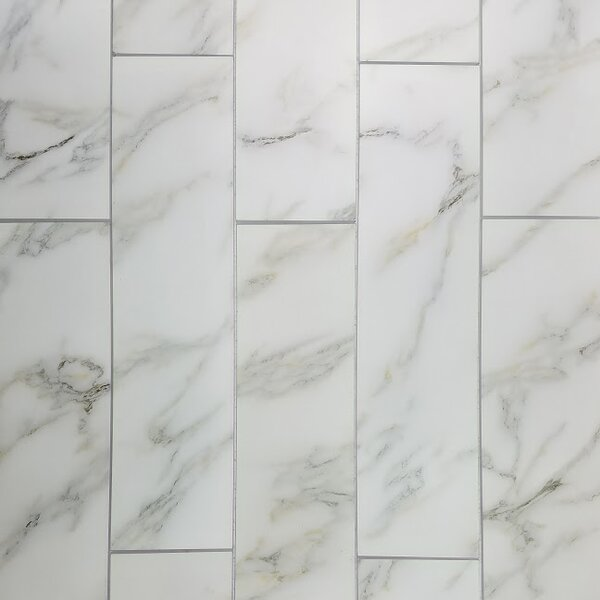 Nature 4 x 16 Glass Subway Tile in White/Gray by Abolos
