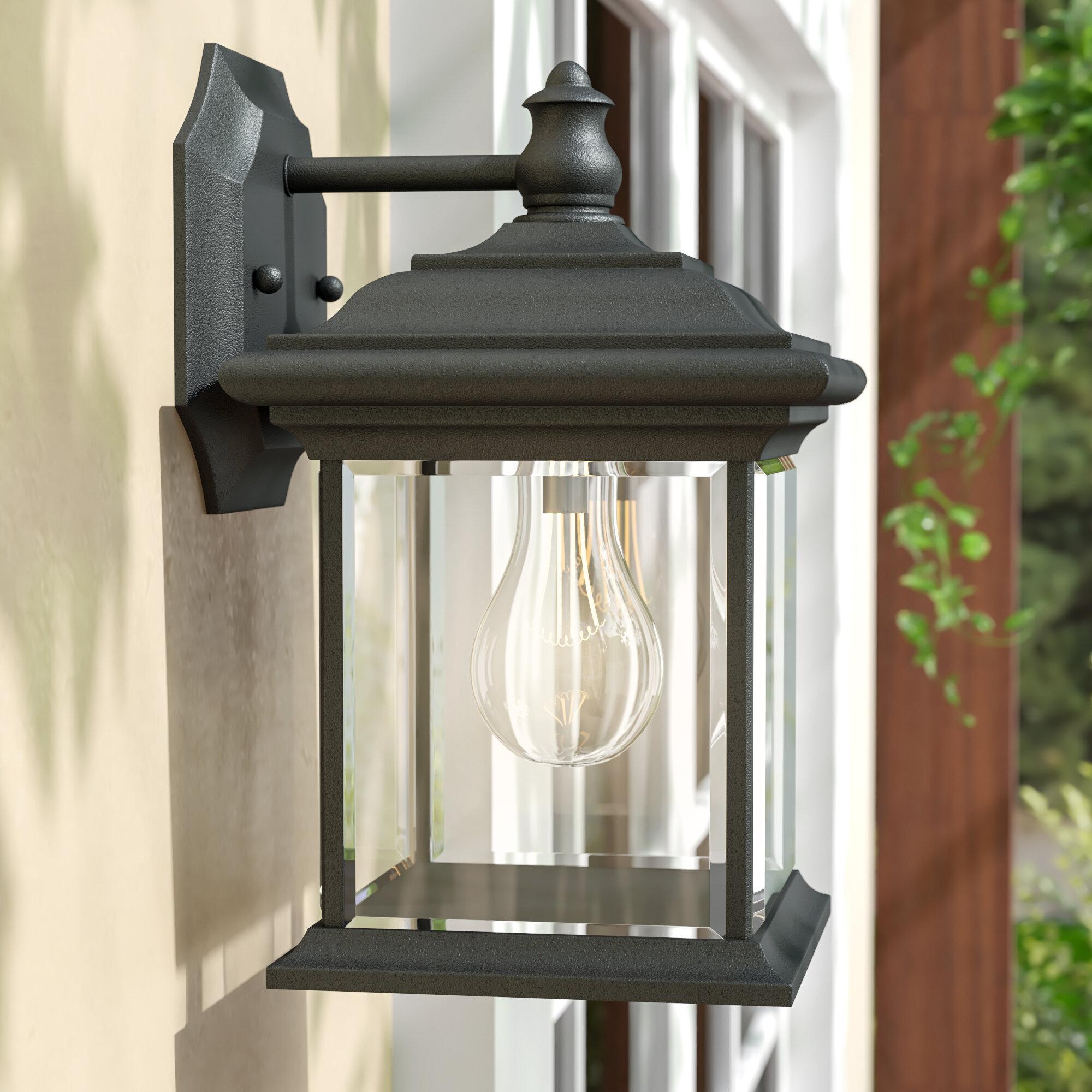 Sol 72 Outdoor Gillett 1 Bulb 9 75 H Outdoor Wall Lantern Reviews Wayfair Ca