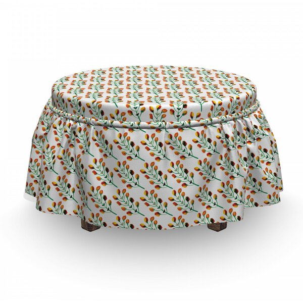 Beauty Garden Ottoman Slipcover (Set Of 2) By East Urban Home
