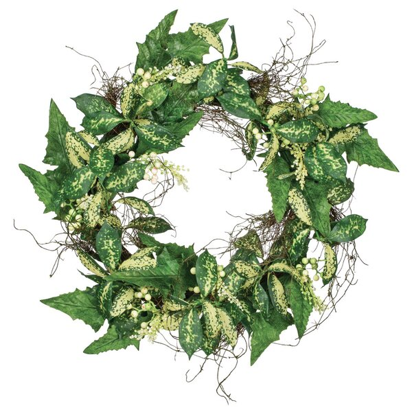 Mixed Foliage 24 Polyester Wreath by August Grove