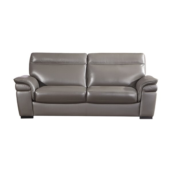 Ullery Leather Sofa by Latitude Run Latitude Run