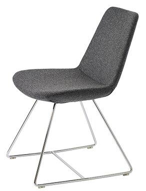 Fechteler Wire Base Wool Side Chair by Ivy Bronx