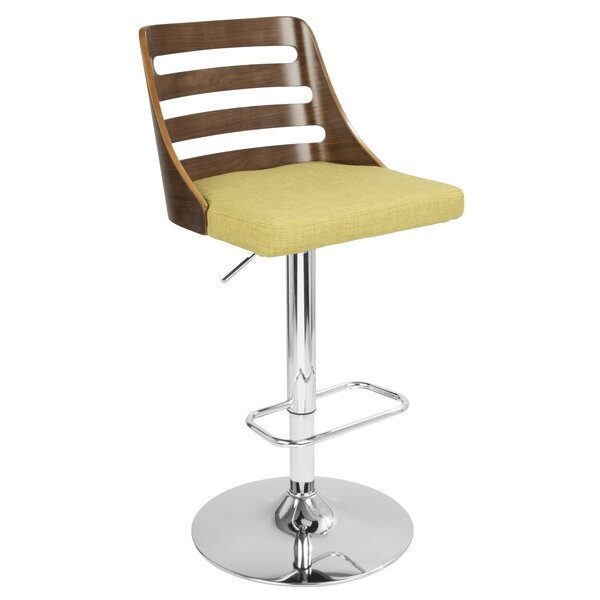 Caesar Adjustable Height Swivel Bar Stool by Langl
