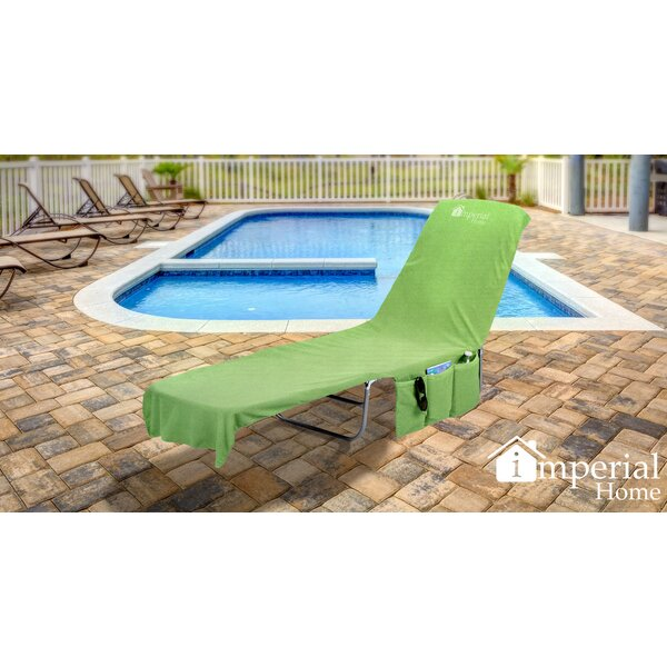 2 in 1 Terry Cloth Chaise Pool Lounge Cover Beach Towel and Tote with Pockets by Freeport Park