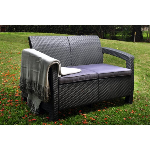 Amazing Patio Loveseat Glider Wayfair Machost Co Dining Chair Design Ideas Machostcouk