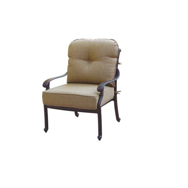 Windley Patio Chair with Cushions (Set of 4) by Fleur De Lis Living Fleur De Lis Living