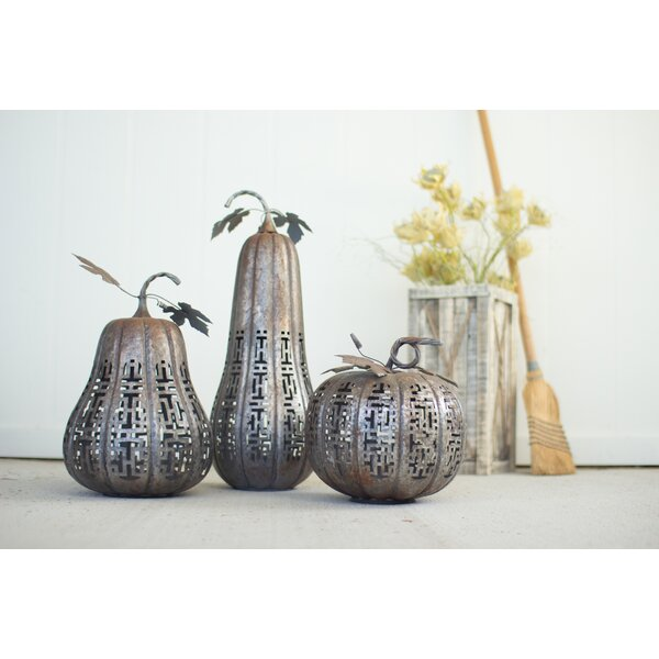 3 Piece Galvanized Pumpkins Set (Set of 3) by The Holiday Aisle