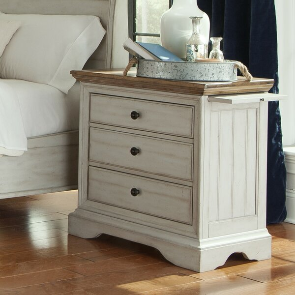 Yother 3 Drawer Nightstand by Highland Dunes