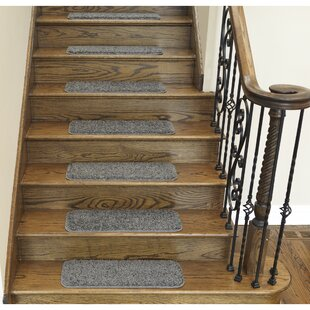 Non- Slip Backing Stair Tread Rugs You\'ll Love | Wayfair