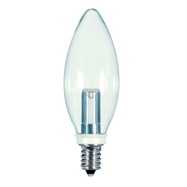 1W E12/Candelabra LED Light Bulb by Satco
