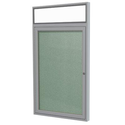 Size Merlot 1 Door Enclosed Bulletin Board Surface Color Frame Finish 3 H x 26 W Satin