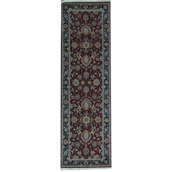 Hand Knotted Wool Wine Rug