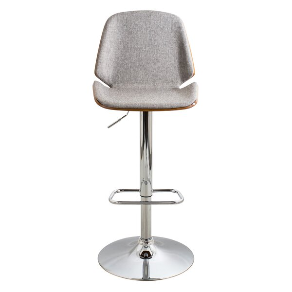 Fleenor Adjustable Height Swivel Bar Stool by George Oliver