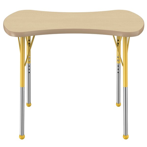 Bowtie Maple Top Thermo-Fused Adjustable 35.6 x 24 Novelty Activity Table by ECR4kids