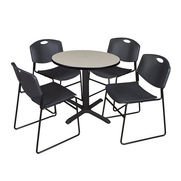 Hendrix 5 Piece 30 Round Breakroom Table and Chair Set by Symple Stuff