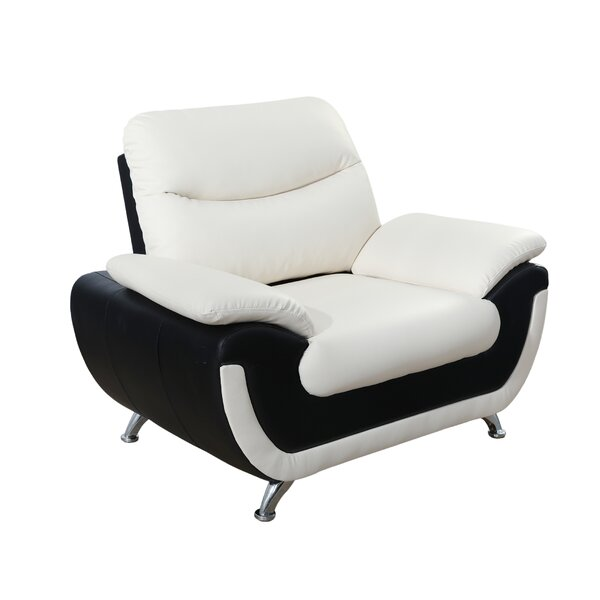 Sensational White Leather Tufted Chair Wayfair Evergreenethics Interior Chair Design Evergreenethicsorg