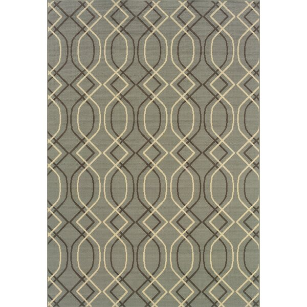 Milltown Blue/Grey Indoor/Outdoor Area Rug by Threadbind