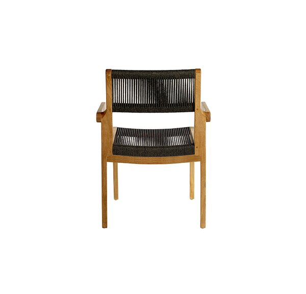 Skagen Stacking Teak Patio Dining Chair with Cushion by OASIQ