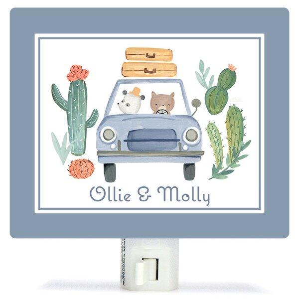 Personalized Best Friends on the Road Canvas Night Light by Oopsy Daisy