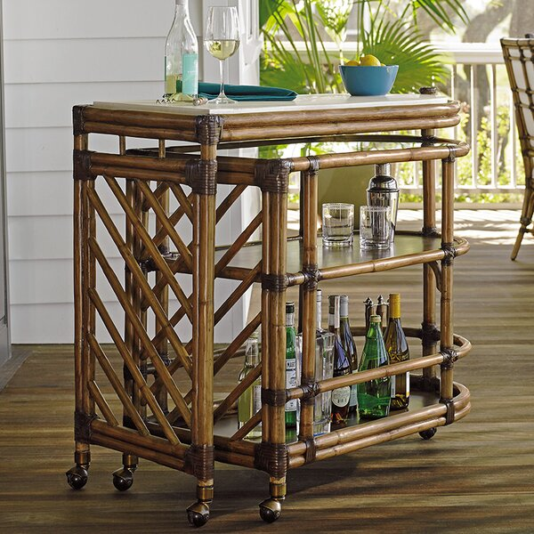 Twin Palms Bar Cart By Tommy Bahama Home Discount