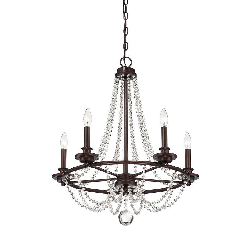 Byromville 5 light candle style chandelier