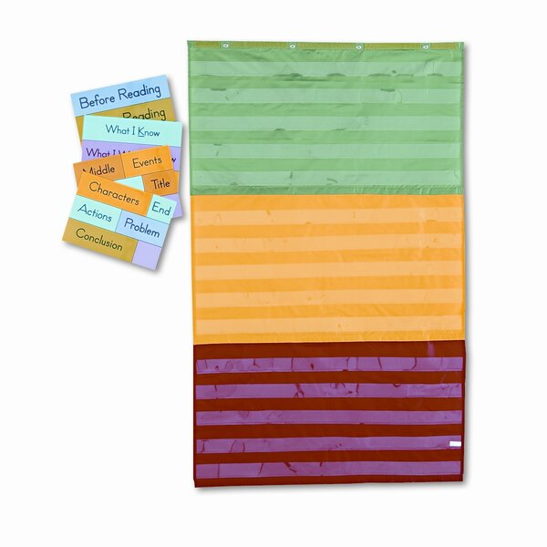 Adjustable Tri-Section Pocket with 18 Color Cards and Guide Chart by Carson-Dellosa Publishing