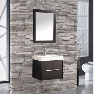 Comparison Peirce 30 Single Floating Bathroom Vanity Set with Mirror ByOrren Ellis