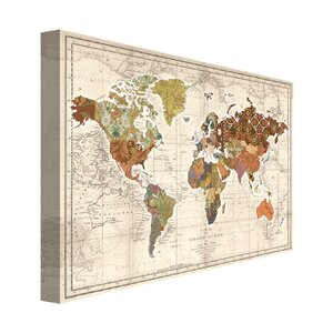 World Map Patterns by Studio Voltaire Graphic Art on Wrapped Canvas by Portfolio Canvas Decor