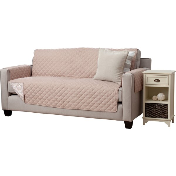 Adalyn Diamond Geo Box Cushion Sofa Slipcover by Home Fashion Designs