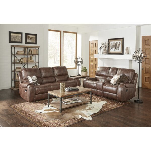 Stampley Leather Air Manual Reclining Living Room Set by Millwood Pines