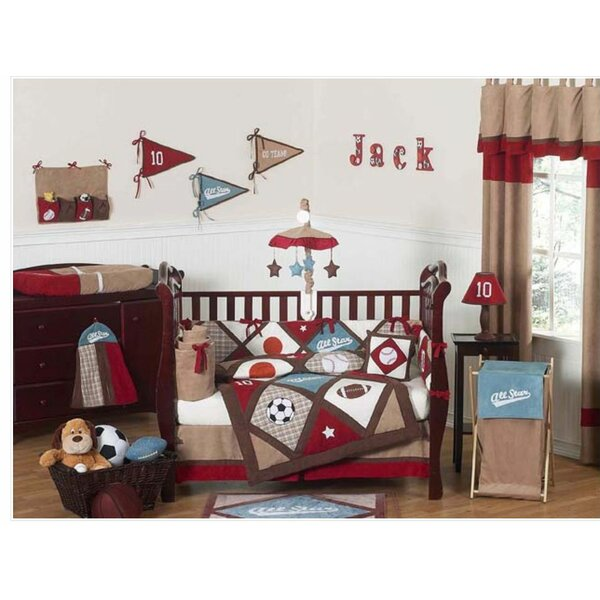 All Star Sports 9 Piece Crib Bedding Set by Sweet Jojo Designs