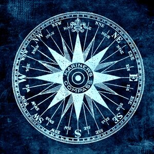 'Mariner's Compass' by Brandi Fitzgerald Graphic Art on Wrapped Canvas by Buy Art For Less