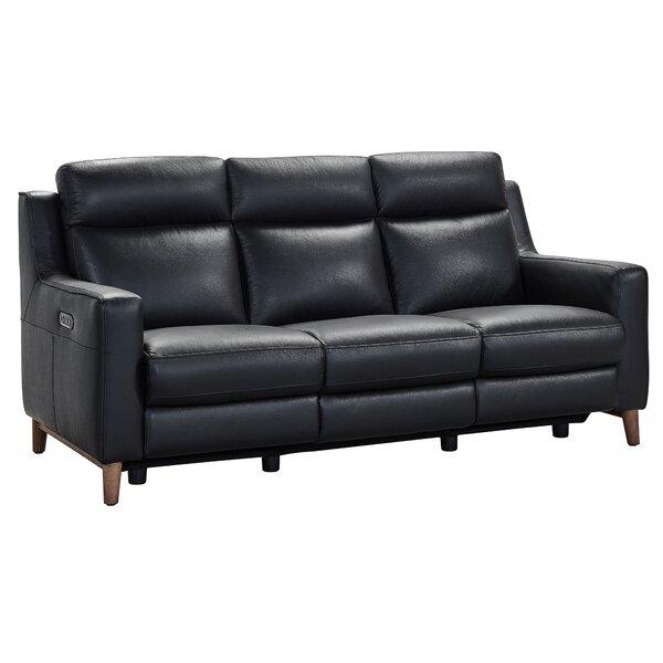 Georgianna Leather Reclining Sofa by Brayden Studio