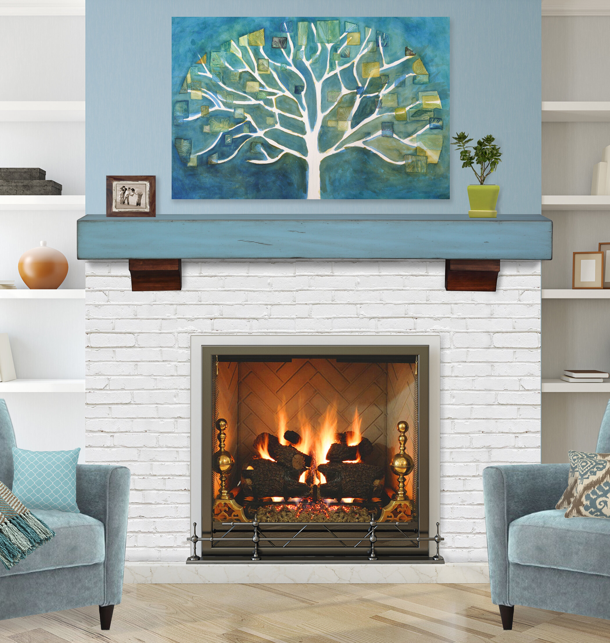 The Shenandoah Fireplace Shelf Mantel
