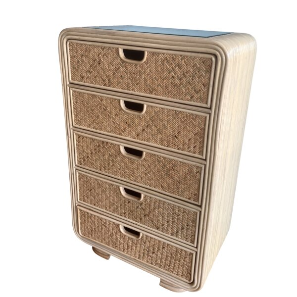 Armory Rattan 5 Drawer Chest by Bayou Breeze