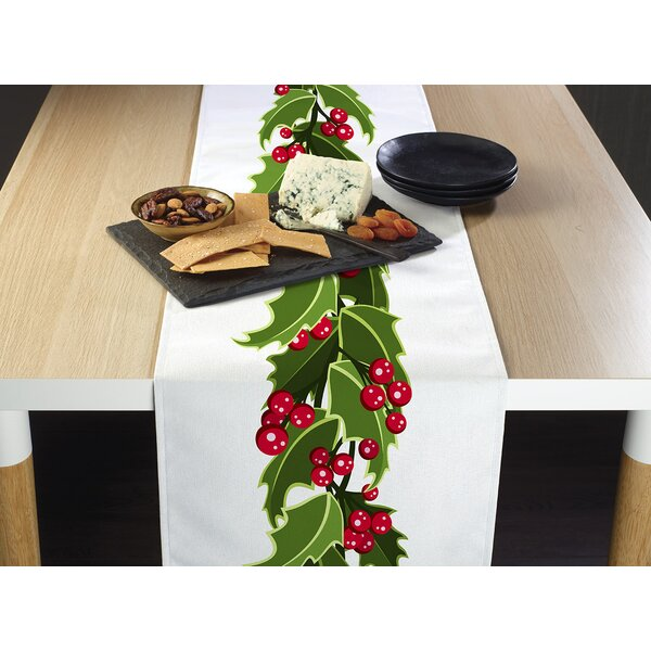 Englewood Christmas Holly Border Table Runner by The Holiday Aisle