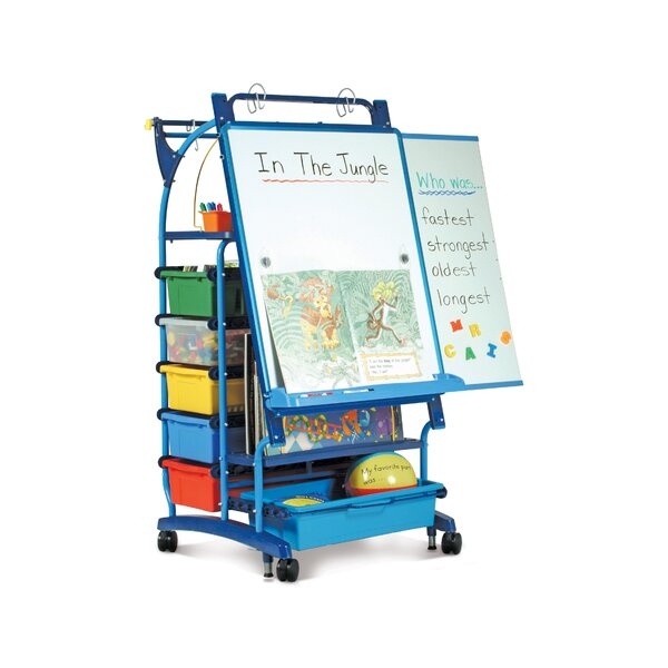 Royal Premium Inspiration Double Sided Teaching Cart with Bins by Copernicus