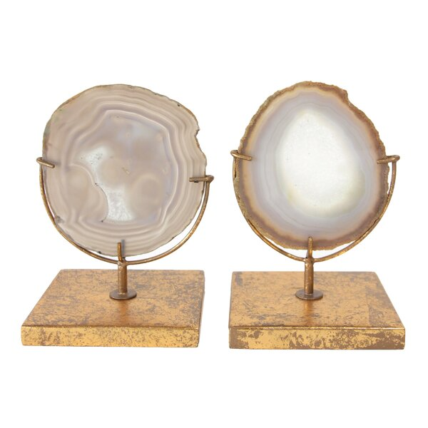 Navasota Natural Decorative Agate Décor On Stand by Greyleigh