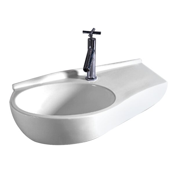 Isabella Vitreous China 24 Wall Mount Bathroom Sink by Whitehaus Collection