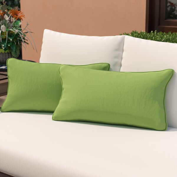 Branan Indoor/Outdoor Lumbar Pillow (Set of 2) by Mercury Row