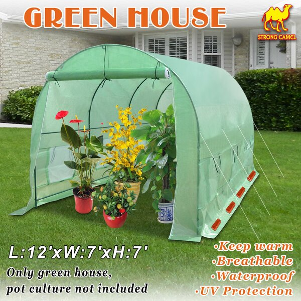 Canopy Gazebo 12 Ft. W x 7 Ft. D Hobby Greenhouse by Strong Camel