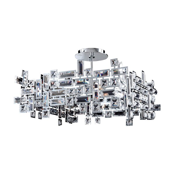 Kern 8-Light Unique / Statement Square / Rectangle Chandelier By House Of Hampton