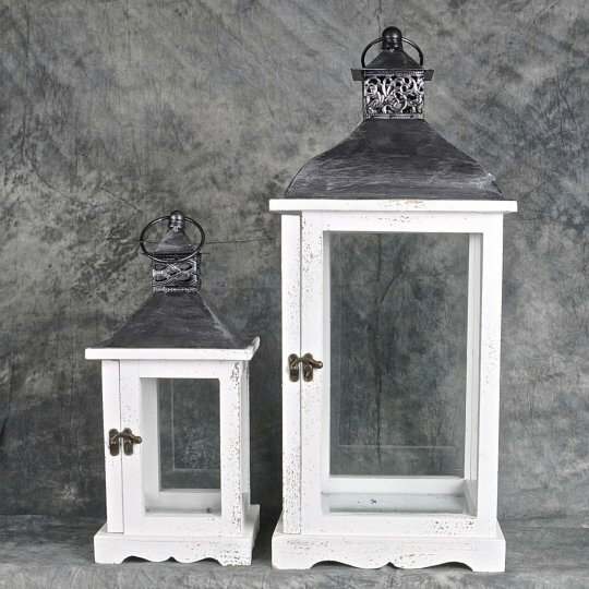 Traditional 2 Piece Wood/Metal Lantern Set by August Grove