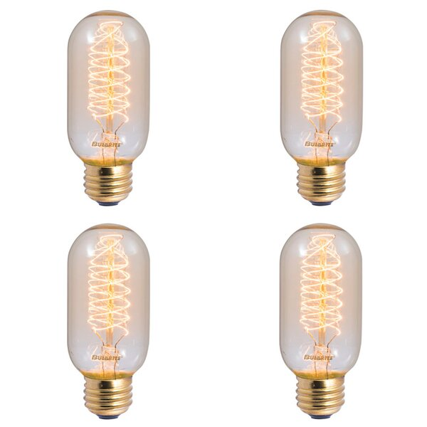 40W E26 Dimmable Incandescent Stick Light Bulb Antique (Set of 4) by Bulbrite Industries